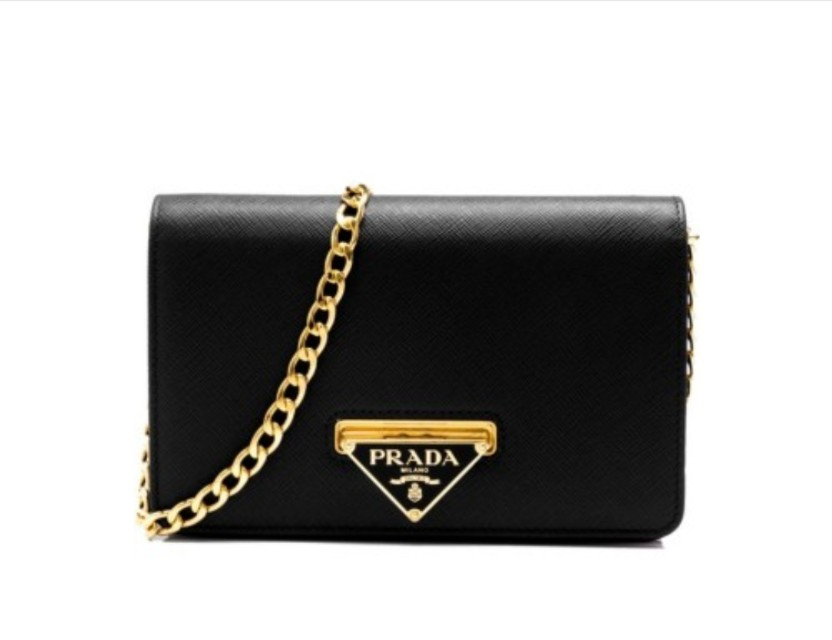 194568dd73eae0 Prada Saffiano Lux Wallet on Chain, Luxury, Bags & Wallets on Carousell