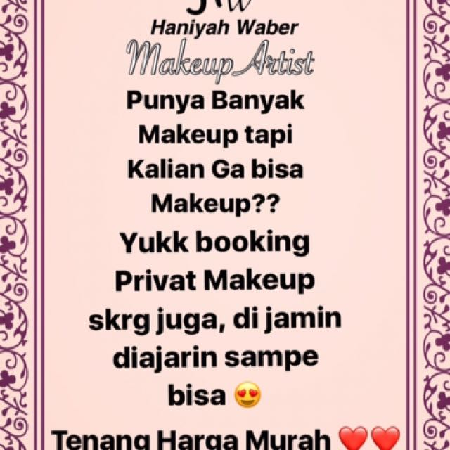 Privat Makeup Murah