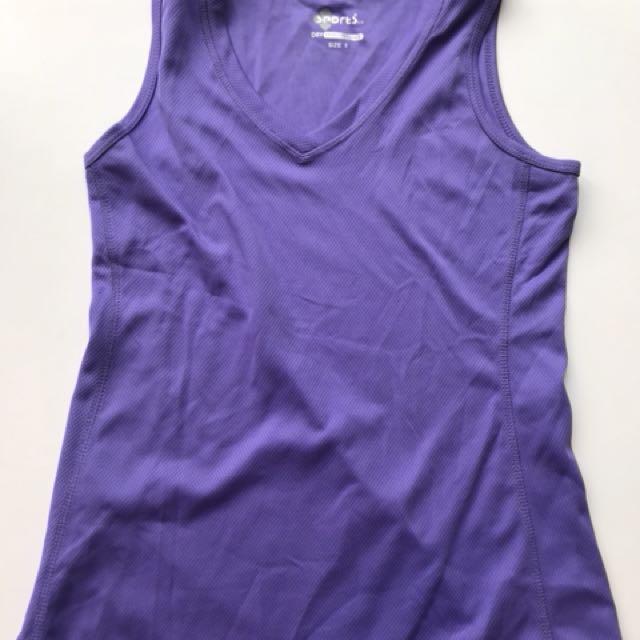 Purple exercise singlet Size 8