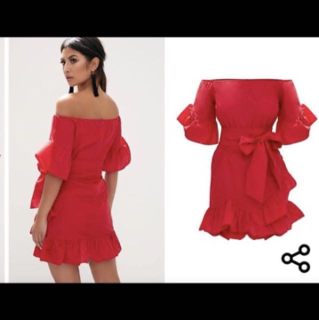 Red frill Dress brand new with tags size 8