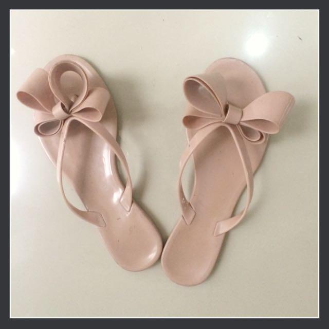 Ribbon sandal (nudepink)