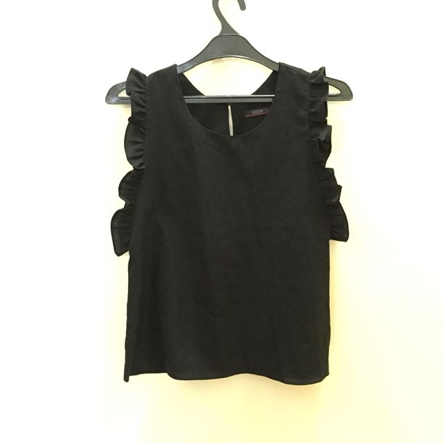 Ruffle side top