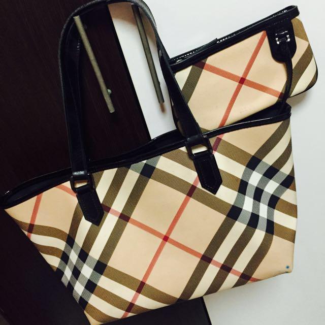 60747019a98c Sale! Authentic Burberry Bag