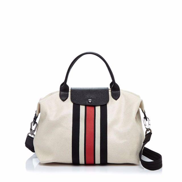 🆕Sale Longchamp Stripe medium f849ba31eafea