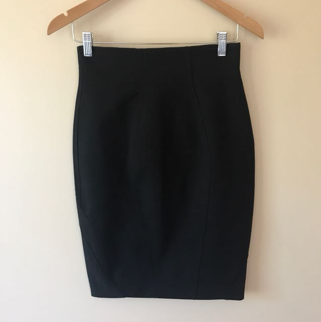 Sheike Black Pencil Skirt Size 8