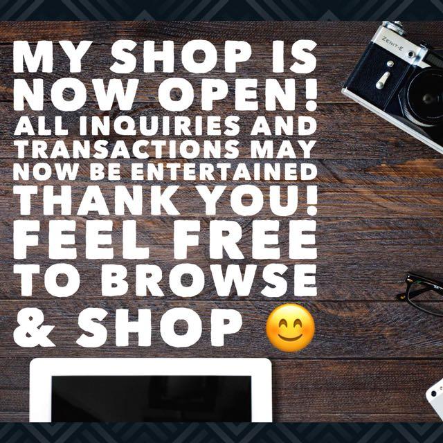 Shop is NOW OPEN!