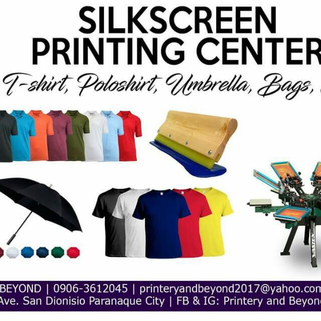 Silkscreen Printing Tshirt Printing