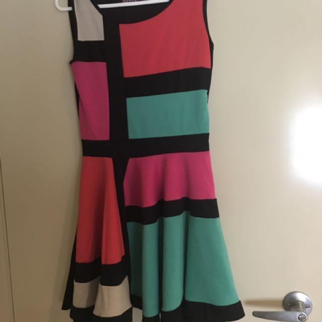 Size 10 Boohoo Retro Dress