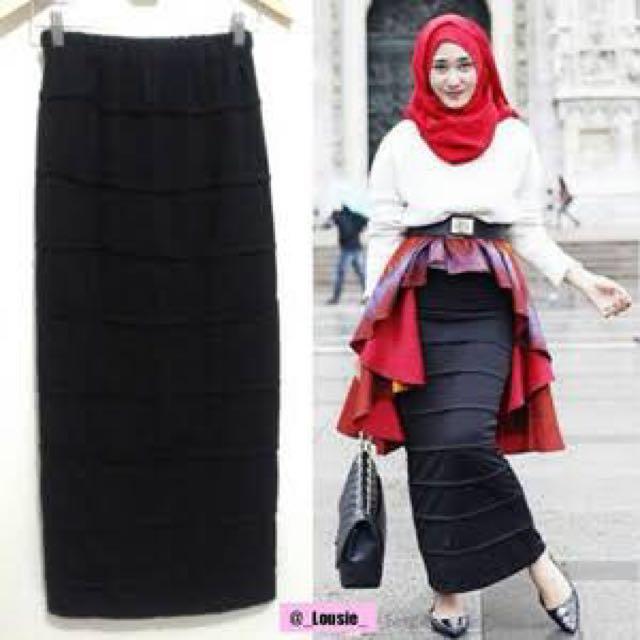 Skinny Skirt Ala Dian Pelangi Warna Biru Dan Merah