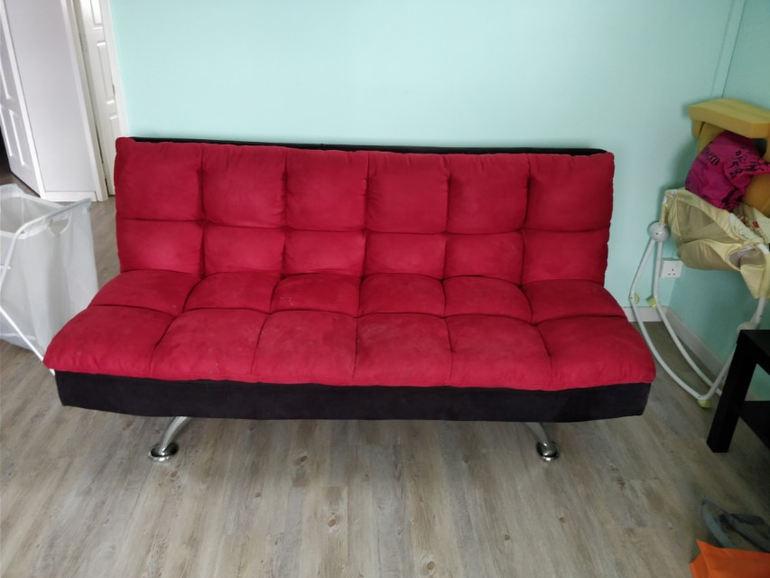 Sofa Bed Red From Courts Furniture
