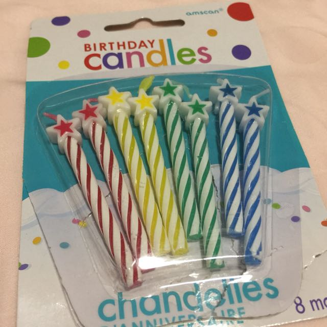 Star Birthday Candles Babies Kids Toys Walkers On Carousell