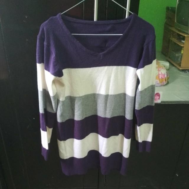 Stripe shirt fit xl