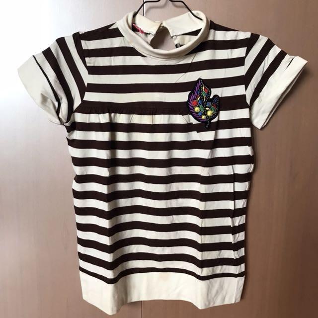 Stripes Brown&White Top