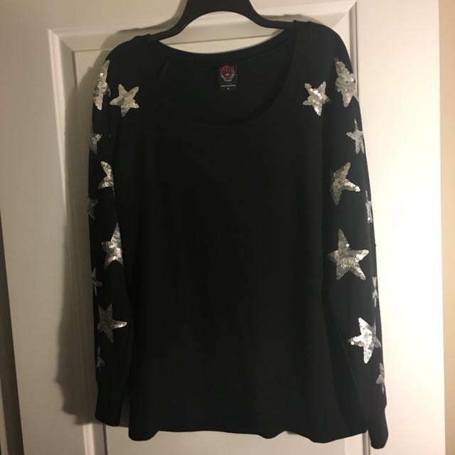 Sweater with Star Sequins