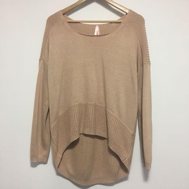 Tan knit