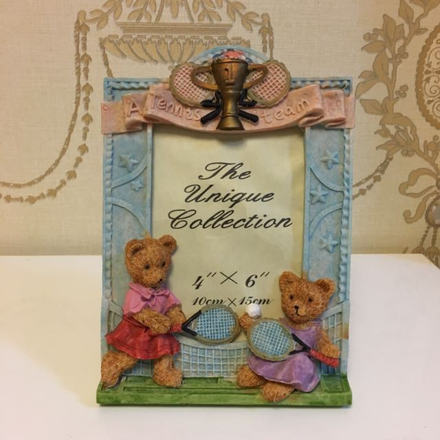 Teddybears playing tennis photo frame