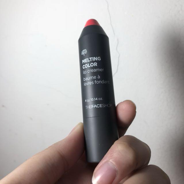 THE FACESHOP MELTING COLOR LIP CREAMER SHADE 3 PINK GRAPEFRUIT