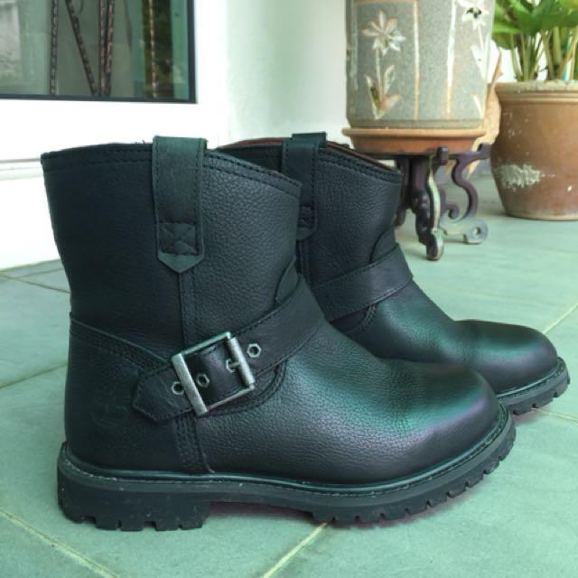 On waterproof Premium Boots Biker Timberland Fashion Women's Pull wnX67qfx