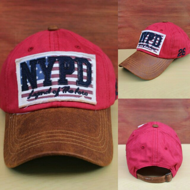 Topi Import NYPD Red