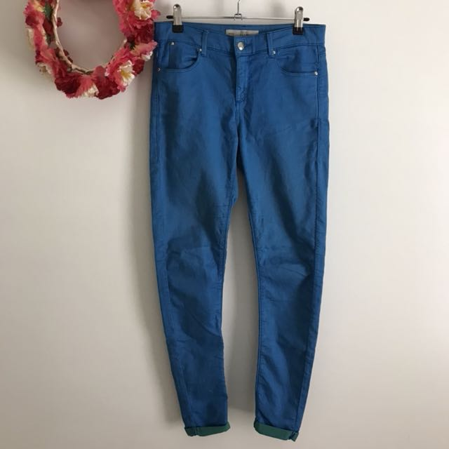 Topshop blue Leigh jeans