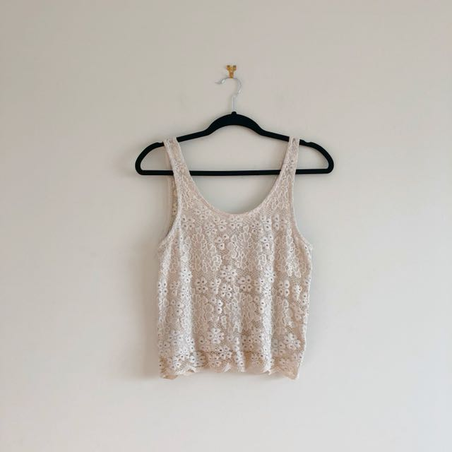 TopShop Laced Tank Top Size 6