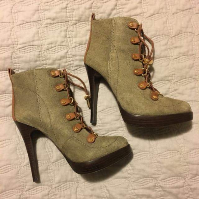 "Tory Burch ""HALIMA "" suede ankle boots"