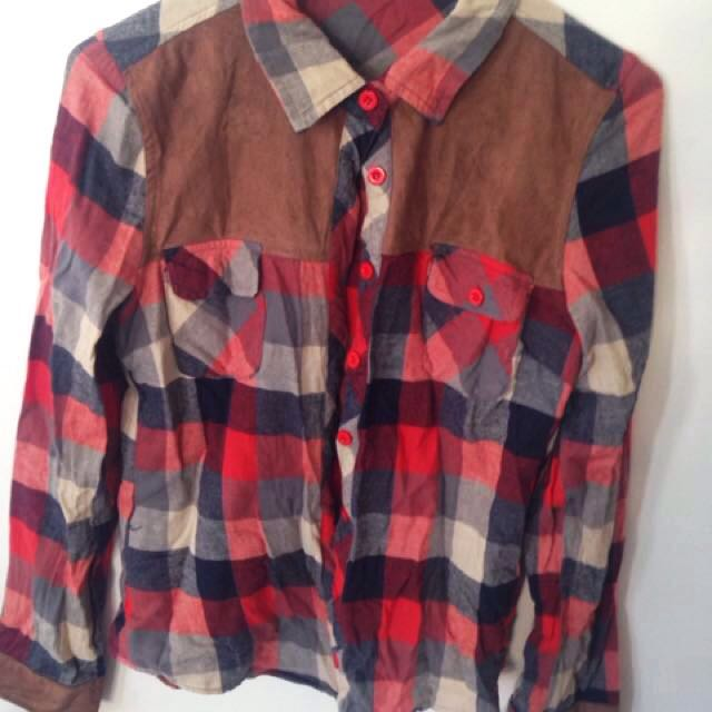 Valleygirl Flannelette Button Up Shirt - Size 8