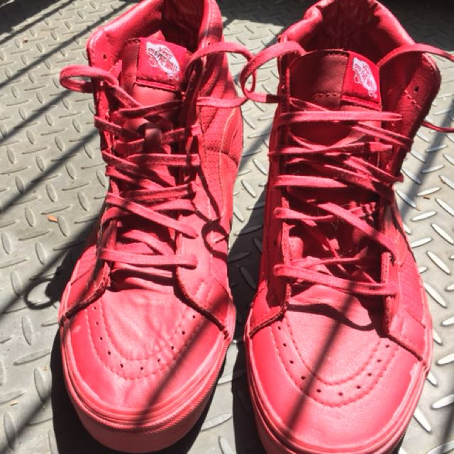 Vans off the wall men's red US 12 shoes