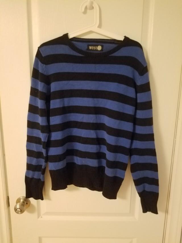 West 49 Striped Sweater (M)
