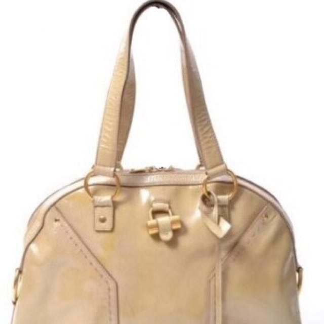 YSL Muse Beige Patent