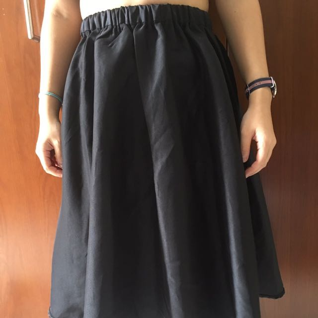 Zalora black skirt
