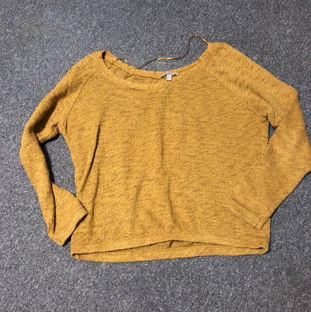 Zara 芥黃色針織寬上衣#冬季衣櫃出清