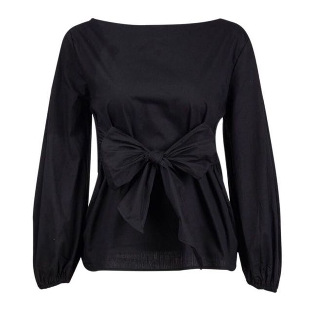 Zara Inspired Bow Tie at Waist Top