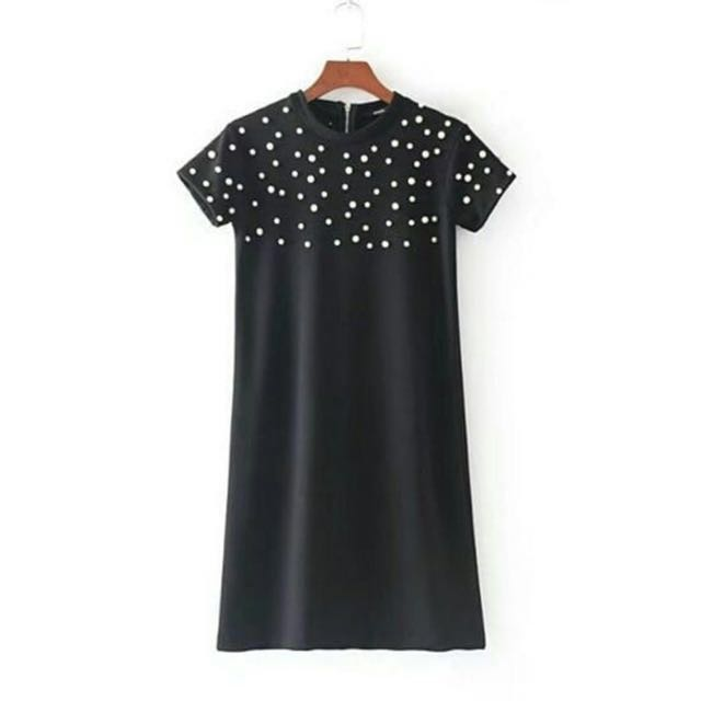 Zara look alike pearl dress size L (small)