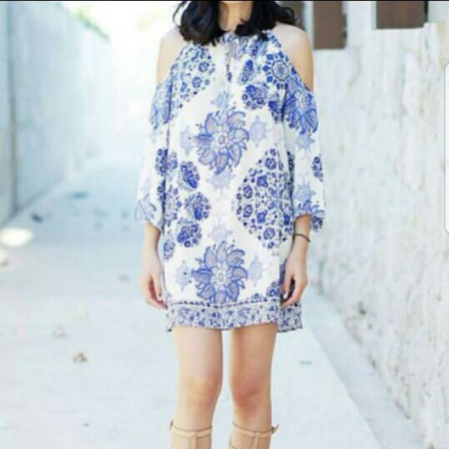Zara porcelain dress look a like