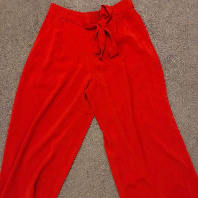 ZARA RED CULOTTES