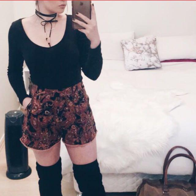 Zip up shorts