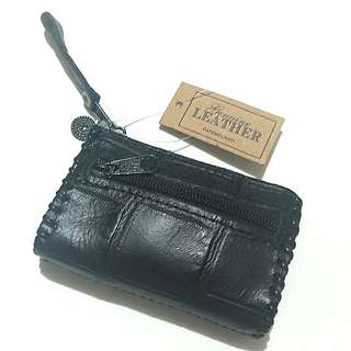Papemelroti leather coin purse (black)