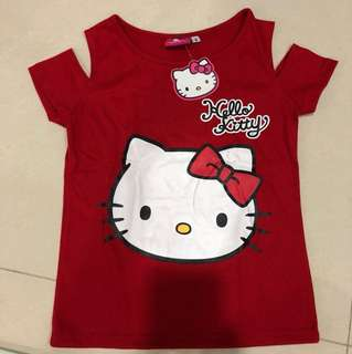 Red hello kitty top brand new with tag size 4
