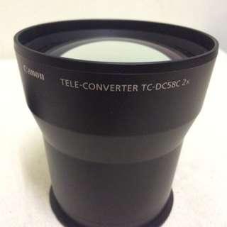 CANON TC-DC58C 2x teleconverter for G10/G11/G12