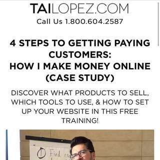 $927 Tai Lopez Course (How I make money online)