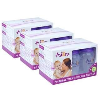 3 x Adora Breastmilk Storage Bottles (6 pcs)