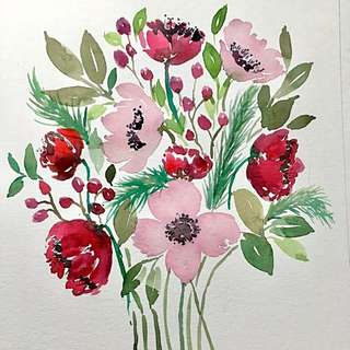Floral Watercolour Painting