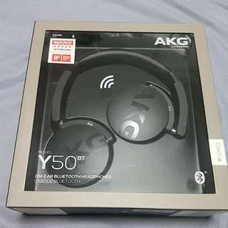 AKG Y50BT On-Ear Bluetooth Headphones (Brand New!)
