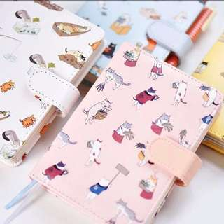 Cute Fancy Elegant vintage Korean Japanese Cat Planner/ Notebook/ Organizer/ Scheduler