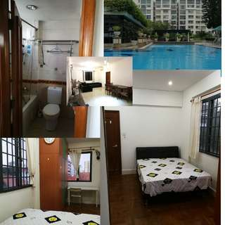 Paya lebar MRT condo master room with attached bathroom, no owner