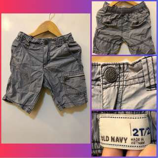 Old Navy Kids Gray Cargo Shorts (for 2y/o)