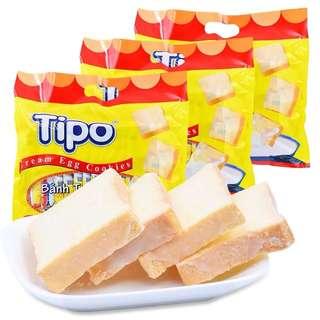 越南進口tipo麵包乾 牛奶味 300g x2