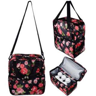 Autumnz Posh Cooler Bag (English Rose Black)