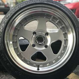 Rotiform 16 inch sports rim persona tyre 90%